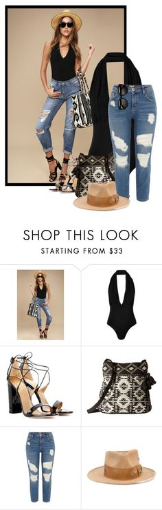 """Untitled #519"" by amaliamosburn ❤ liked on Polyvore featuring Billabong, Love, Aquazzura, Scully, River Island and Nick Fouquet"