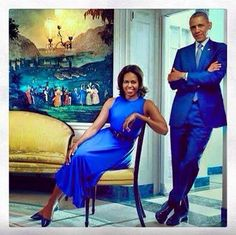 President Barack Obama of the United States & First Lady Michelle Obama