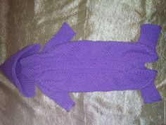 Купить Вязаный комбинезон для собак - фиолетовый, рисунок, вязанная, Вязанная одежда для собак, одежда для собак