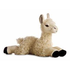 Pluche lama knuffel. Deze liggende lama knuffel is gemaakt van pluche. Formaat 30 cm.