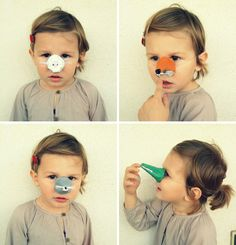 Egg Carton Animal Noses by babyjungle #DIY #Crafts #Animal_Noses #Egg_Carton