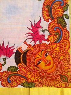Kerala mural on a sari!!