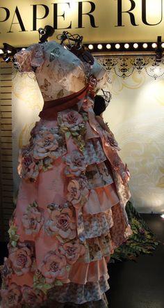 Carmi's Art/Life World: DCWV - The Paper Dresses From CHA