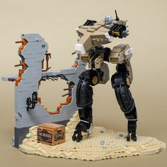 """Gekko (from """"Metal Gear Solid Guns of the Patriots"""") by SteppedOnABrick Metal Gear Solid, Lego Mechs, Lego Bionicle, Hack And Slash, Legos, Armas Wallpaper, Lego Zombies, Lego Bots, Lego Machines"""