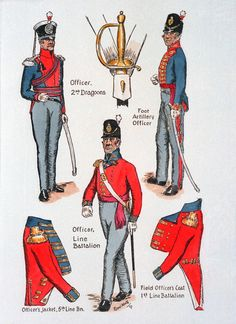 Waterloo 1815, Battle Of Waterloo, Empire, British Uniforms, Army Uniform, Napoleonic Wars, British Army, German, Military