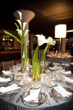 centerpieces, table setting, place settings, glassware, silverware, wedding menus  whitneyevents.com