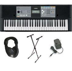 Yamaha psre233 Keyboard digital piano Stand+Adapter+headphone Full-Sized Keys #yamaha