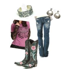 Hip Country Gal, created by cowgirltuffcompany on Polyvore