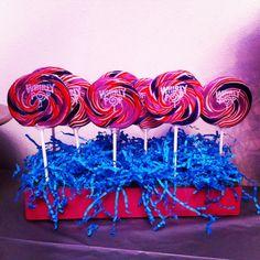 Lollipops on display.
