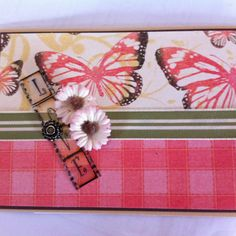 6x4 Card. Butterflys.