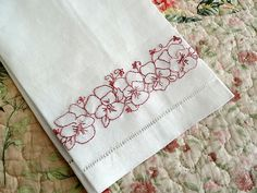 Flower Bookmark Hand Embroidery Pattern Set PDF por countrygarden