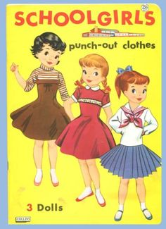 1964 SCHOOLGIRLS-PUSH-OUT-DOLLS/CLOTHES  Page 1 Cover Page