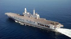 Italian aircraft carrier Cavour.