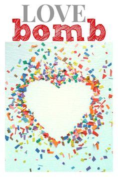 Love Bomb Valentine's Day Craft