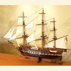 HMS Surprise model ship port quarter