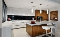 timber and white modern design
