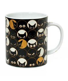 Take a look at this Black 8-Oz. Cat Eye Mug by Miya Company on #zulily today! $11 !!