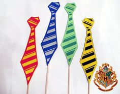 Items similar to Striped Ties Photo Booth Props on Etsy Theme Harry Potter, Harry Potter Wedding, Harry Potter Birthday, Harry Potter Love, Bookworm Party, Harry Potter Christmas, Yule Ball, Birthday Party Themes, Birthday Bash