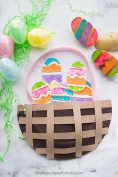Easter Paper Plate Basket