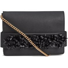 Beaded Clutch Bag $29.99 (96 PEN) ❤ liked on Polyvore featuring bags, handbags, clutches, flap handbags, magnetic closure handbags, strap purse, beaded handbags and chain handle handbags