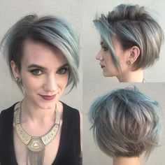 Short Shaggy Gray Hairstyle