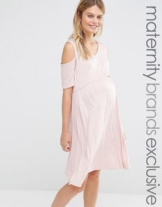 Bluebelle Maternity | Bluebelle Maternity Cold Shoulder Skater Dress