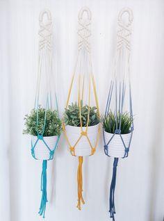 Macrame plant hanger by freefille on Etsy