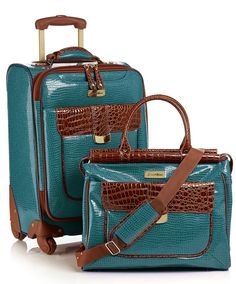First Class Style meets functionality in this Samantha Brown Luggage collection! Careful, you'll never want to travel without this set again!