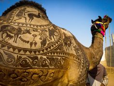 "Art on camel Body  - Become the Part of World's Largest #CattleFair ""Pushkar Camel Fair"" with #Pushkar Camel Fair 2017 Tour by Travelsite India http://www.travelsiteindia.com/blog/celebrate-pushkar-camel-fair-2017/"