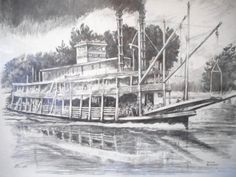 Dobbs Ferry, Steamboats, Painting, Art, Art Background, Painting Art, Paintings, Kunst, Drawings