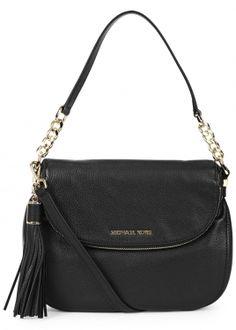 Bedford black grained leather shoulder bag
