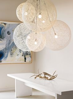 Light Designed by Bertjan Pot for Moooi. Hugely dramatic, light as a feather and distinctly Dutch, the Random Light (2002) by Bertjan Pot began as a modernist craft project of sorts.  DWRDining