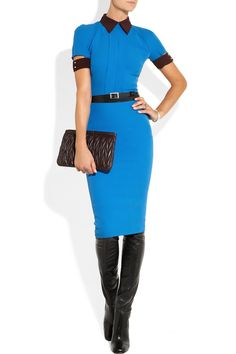 Victoria Beckham | Silk and wool-blend crepe dress | NET-A-PORTER.COM