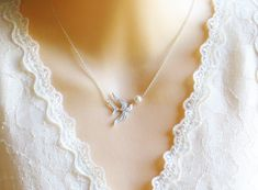 Mom Bird and Egg Pendant Necklace  Bird and Egg by LeCharmeJewelry, $19.95