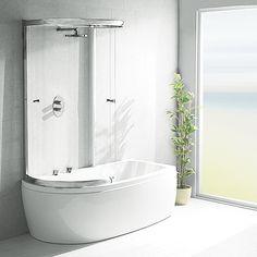 Shower Over Bath Glass Screens Bathroom Designs Corner Bathtub Combination Hydromassage