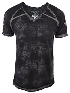 Affliction - Simple but stylish with that wash and the shoulder designs.