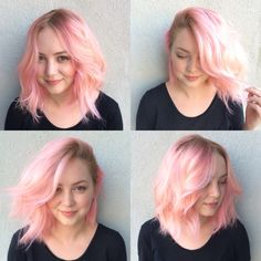 Hair by Eric Hagen at Taboo Hair Care in Los Angeles. September 2014  (Pastel, pink, hair, lob, pale, short, blonde)