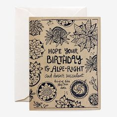 Succulent Birthday Card
