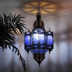 Colored glass Moroccan lanterns...yes please!