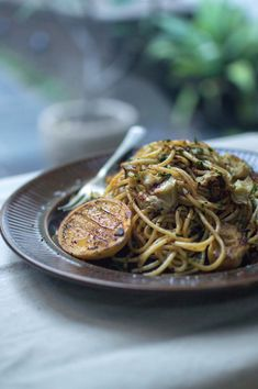 Spaghetti with brown butter, anchovies & lemon | heneedsfood.com