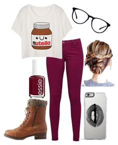 """Untitled #79"" by haileywwe ❤ liked on Polyvore featuring Great Plains, Charlotte Russe, Lipsy and Essie"