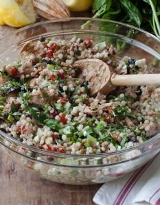 Barefoot Contessa - Israeli Couscous & Tuna Salad   This looks perfect for a delicious summer entree.