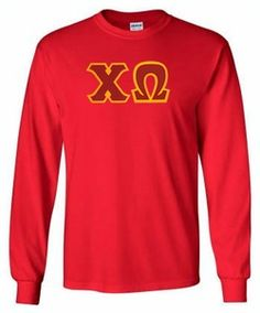 Chi Omega Lettered Long Sleeve Tee #chiomega #longsleeve #sororityclothes