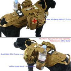 Tactical Dog K9 Training Molle Vest Harness [5 Sizes, 9 colors option]