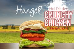 Hunger?  Hol Dir den Crunchy Chicken #BagelBurger im #bagelshop :-)  Fresh Bagels & Muffins www.bagelshop.de