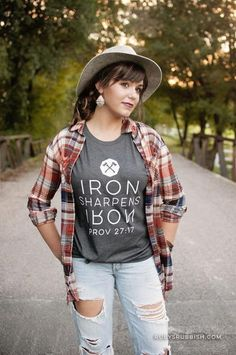 Iron Sharpens Iron- Christian T-shirt – Ruby's Rubbish Wholesale