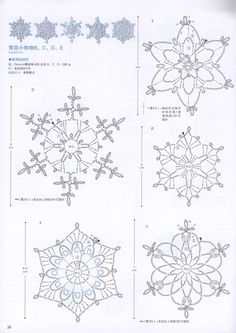 The snowflakes crochet pattern is a good guideline to knit the crochet products. There are some crochet patterns that can be chosen for knitting. Every crochet pattern is like a magical pattern and motif. Free Crochet Snowflake Patterns, Crochet Stars, Crochet Snowflakes, Doily Patterns, Thread Crochet, Crochet Flowers, Crochet Angels, Crochet Doilies, Snowflakes
