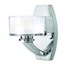 "View the Hinkley Lighting 5590 8""H Single Light Bathroom Fixture with Clear Inside Etched Glass from the Meridian Collection at LightingDirect.com."