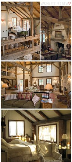 Old barn converted into a house. Good idea. Now to find a old barn to convert.