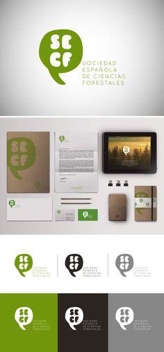 Propuesta para la identidad visual corporativa de la Sociedad Española de Ciencias Forestales, por Cristina Muñoz http://cargocollective.com/cristinamufer/Branding